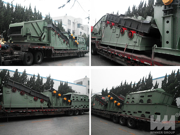 Double Frequency Vibrating Screen Shipping