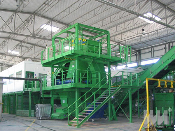 municipal solid waste processing machine