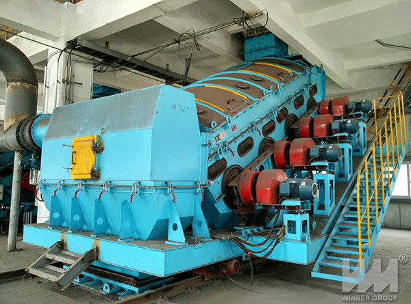 double vibrating screen project site