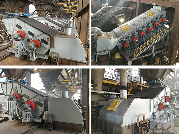 vibrating screen working site